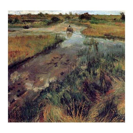cuadros de paisajes - Cuadro -Swollen Stream at Shinnecock-