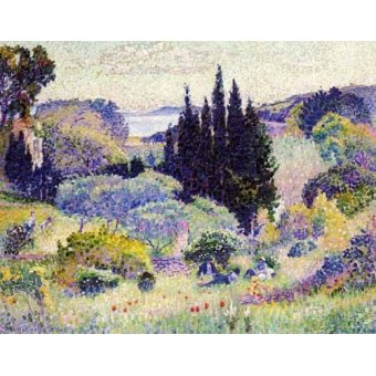 - Cuadro -Cipreses en abril- - Cross, Henri Edmond