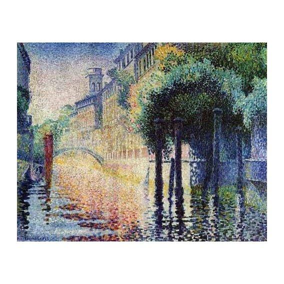 cuadros de paisajes - Cuadro -Rio San Trovaso en Venecia-