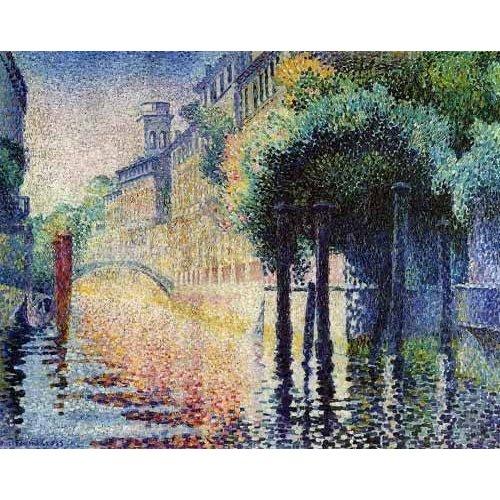 Cuadro -Rio San Trovaso en Venecia-