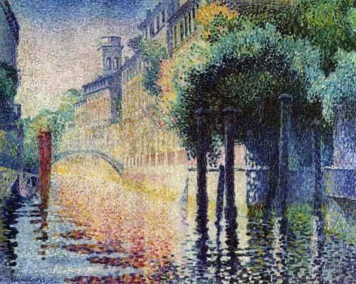 cuadros-de-paisajes - Cuadro -Rio San Trovaso en Venecia- - Cross, Henri Edmond