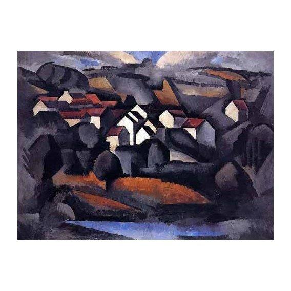 cuadros de paisajes - Cuadro -Paisaje en el sur de Ferte-
