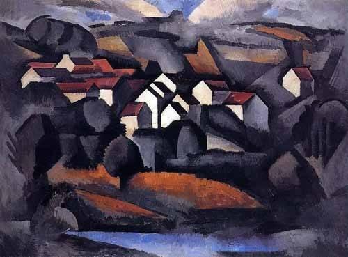 cuadros-de-paisajes - Cuadro -Paisaje en el sur de Ferte- - Fresnaye, Roger de la