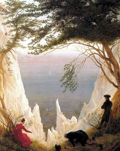 cuadros-de-paisajes - Cuadro -Kreidefelsen auf Rügen- - Friedrich, Caspar David