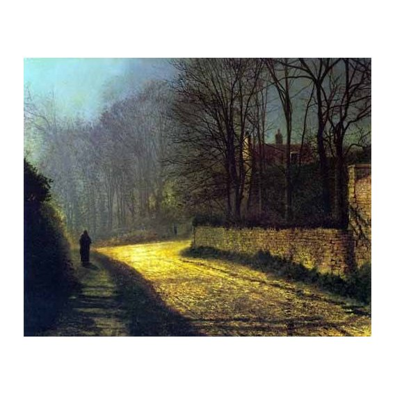 cuadros de paisajes - Cuadro -Los amantes-