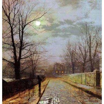 - Cuadro -Calle de Cheshire- - Grimshaw, John Atkinson