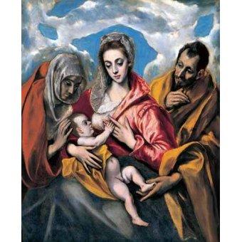 - Cuadro -La Sagrada Familia con Santa Ana (1595)- - Greco, El (D. Theotocopoulos)