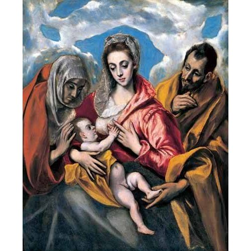 Cuadro -La Sagrada Familia con Santa Ana (1595)-