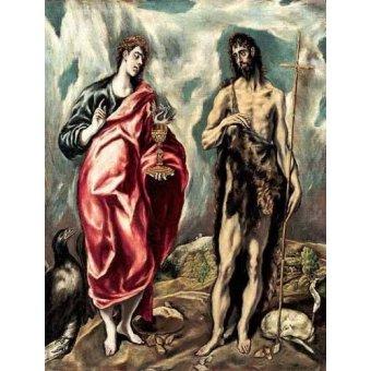 - Cuadro -Los Santos Juanes (1605-10)- - Greco, El (D. Theotocopoulos)