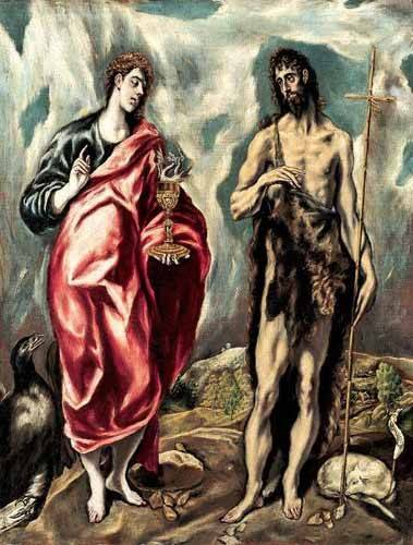 cuadros-religiosos - Cuadro -Los Santos Juanes (1605-10)- - Greco, El (D. Theotocopoulos)