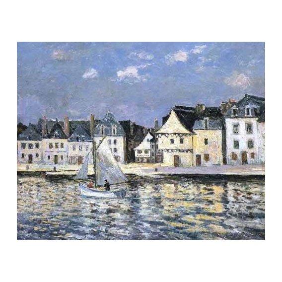 cuadros de marinas - Cuadro -El puerto de Saint Goustan, Brittany-