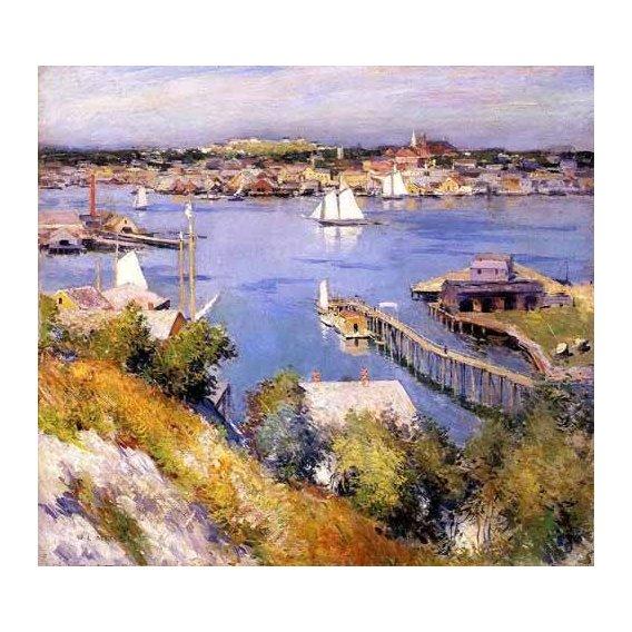 cuadros de marinas - Cuadro -Puerto de Gloucester-