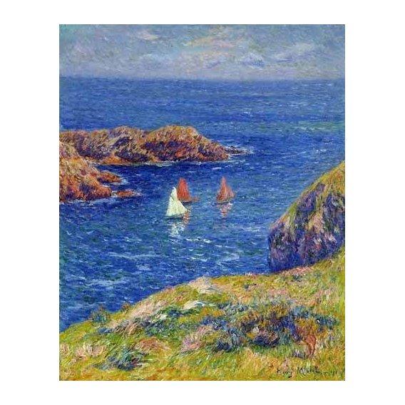 cuadros de marinas - Cuadro -Día tranquilo en Quessant-