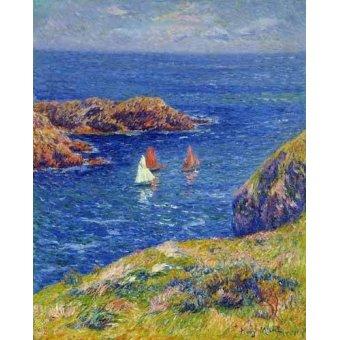cuadros de marinas - Cuadro -Día tranquilo en Quessant- - Moret, Henri
