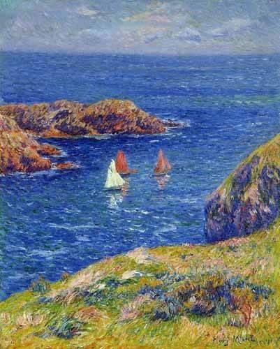 cuadros-de-marinas - Cuadro -Día tranquilo en Quessant- - Moret, Henri