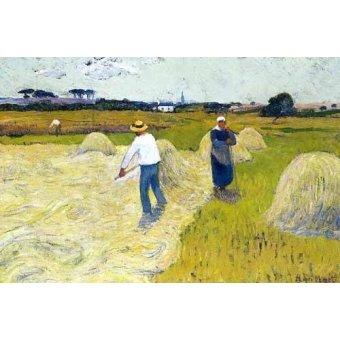 - Cuadro -Haymaking- - Moret, Henri