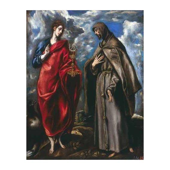 cuadros religiosos - Cuadro -San Juan Evangelista y San Francisco-