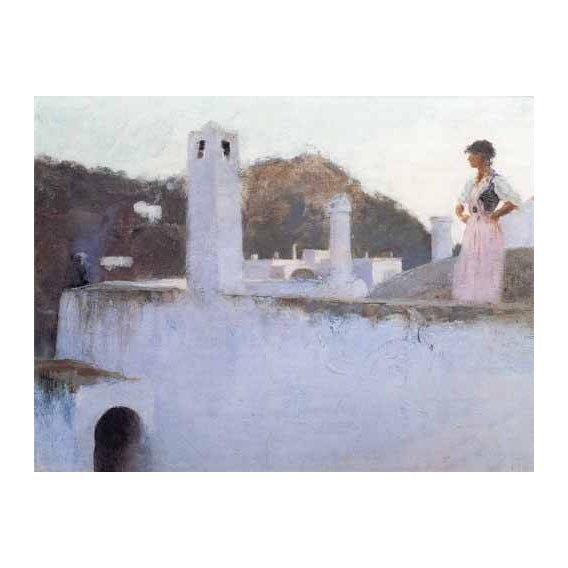 cuadros de paisajes - Cuadro -Vista de Capri-
