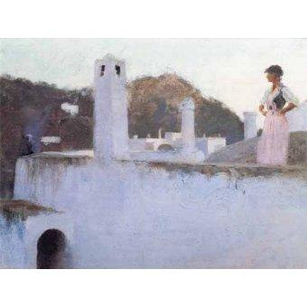 - Cuadro -Vista de Capri- - Sargent, John Singer