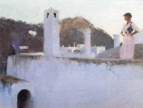 cuadros-de-paisajes - Cuadro -Vista de Capri- - Sargent, John Singer