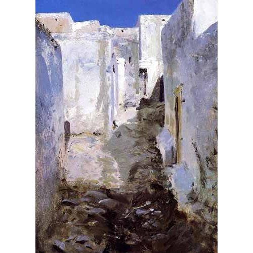 cuadros de paisajes - Cuadro -Calle de Algiers-