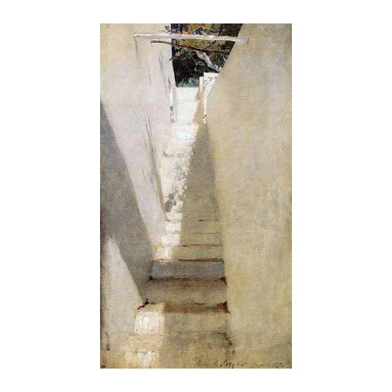 cuadros de paisajes - Cuadro -Escalinata en Capri-