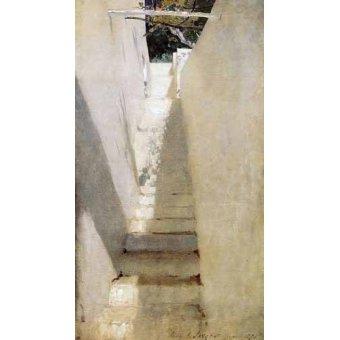 - Cuadro -Escalinata en Capri- - Sargent, John Singer