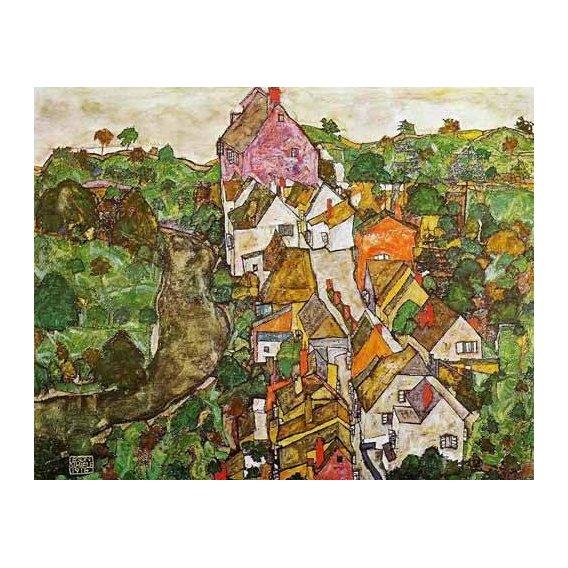 cuadros de paisajes - Cuadro -Paisaje de Krumau-