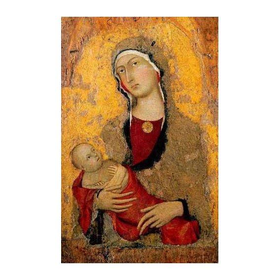 cuadros religiosos - Cuadro -Madona con Niño-