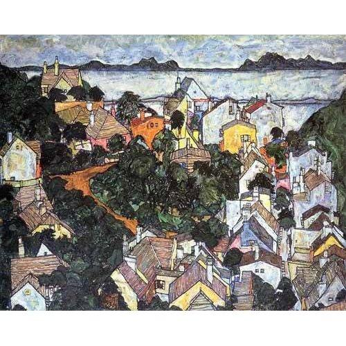 cuadros de paisajes - Cuadro -Paisaje de verano en Krumau-