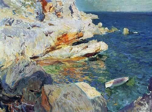 cuadros-de-marinas - Cuadro -Rocas de Javea- - Sorolla, Joaquin