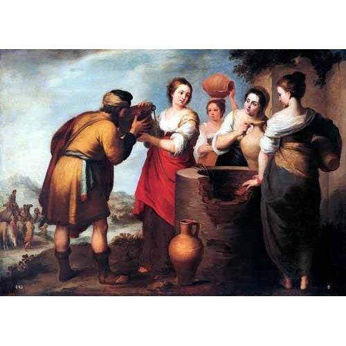 cuadros religiosos - Cuadro -Rebeca y Eliecer-