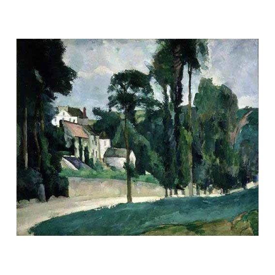 cuadros de paisajes - Cuadro -La carretera en Pontoise-
