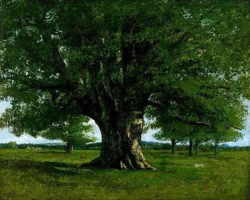 cuadros-de-paisajes - Cuadro -El roble de Flagey, llamado Vercingetorix- - Courbet, Gustave