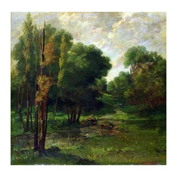 cuadros de paisajes - Cuadro -Paisaje de un bosque-