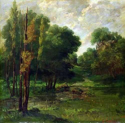 cuadros-de-paisajes - Cuadro -Paisaje de un bosque- - Courbet, Gustave