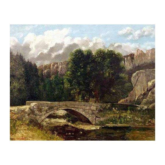 cuadros de paisajes - Cuadro -El puente de Fleurie, Suiza (1873)-