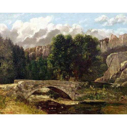 Cuadro -El puente de Fleurie, Suiza (1873)-