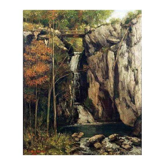 cuadros de paisajes - Cuadro -El abismo de Conches (1864)-