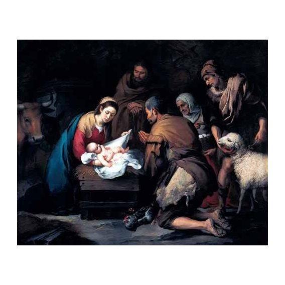 cuadros religiosos - Cuadro -Adoración de los pastores-