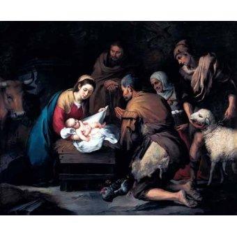 - Cuadro -Adoración de los pastores- - Murillo, Bartolome Esteban