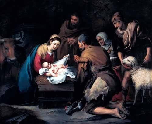 cuadros-religiosos - Cuadro -Adoración de los pastores- - Murillo, Bartolome Esteban