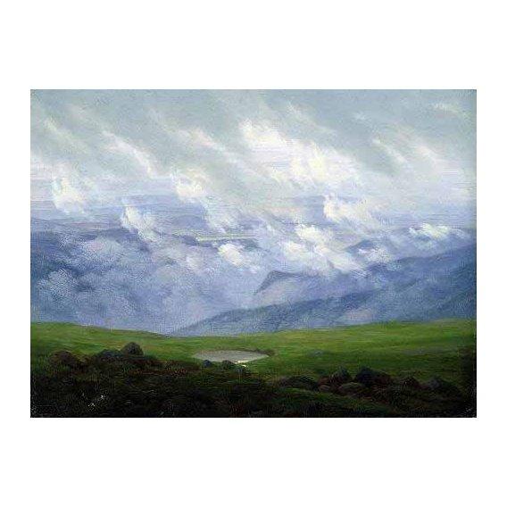 cuadros de paisajes - Cuadro -Nubes a la deriva-