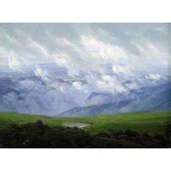 - Cuadro -Nubes a la deriva- - Friedrich, Caspar David