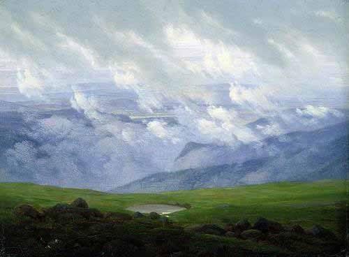 cuadros-de-paisajes - Cuadro -Nubes a la deriva- - Friedrich, Caspar David