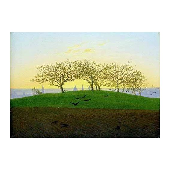 cuadros de paisajes - Cuadro -Cerros y campos arados cerca de Dresden-