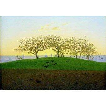 - Cuadro -Cerros y campos arados cerca de Dresden- - Friedrich, Caspar David