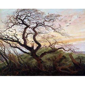 - Cuadro -El arbol de los cuervos- - Friedrich, Caspar David