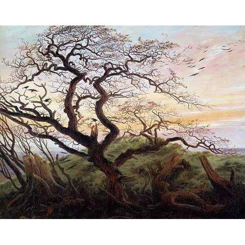 cuadros de paisajes - Cuadro -El arbol de los cuervos-