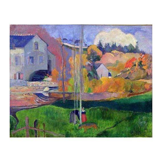 cuadros de paisajes - Cuadro -Paisaje de Bretaña: el molino de Mill-